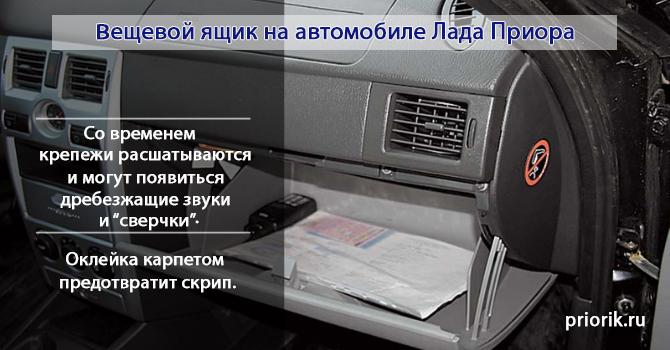 Бардачок автомобиля Лада Приора