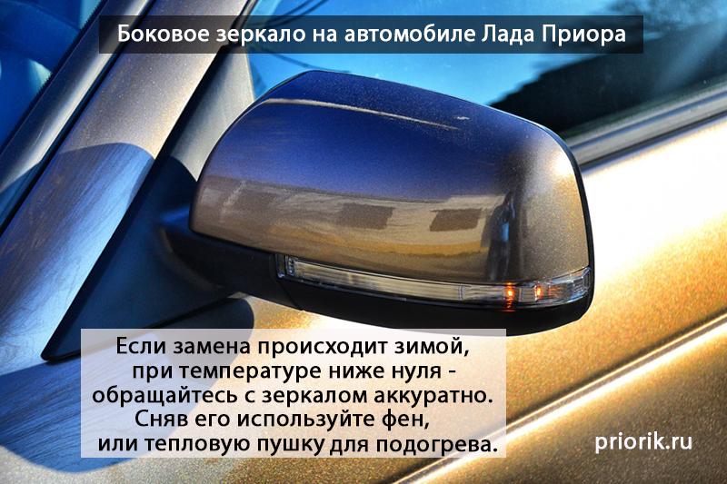 Боковое зеркало автомобиля Лада Приора